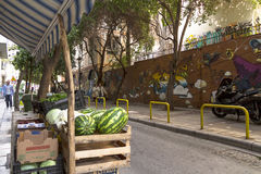 Graffiti w Saloniki Obraz Stock