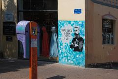 Graffiti w Starym Tel Aviv zdjęcia stock