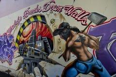 Graffiti w strees Surry wzgórzy mówić Zdjęcia Stock