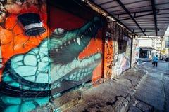 Graffiti w Tel Aviv Fotografia Stock