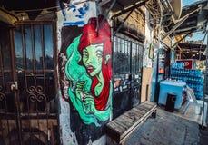 Graffiti w Tel Aviv Obraz Stock