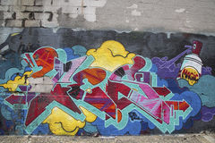 Graffiti w Williamsburg sekci w Brooklyn Zdjęcie Royalty Free