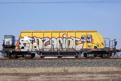 Graffiti wagon Stock Photo