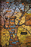 Graffiti wal Royalty-vrije Stock Afbeelding