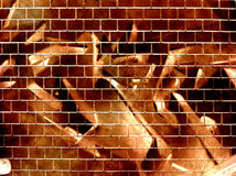 Graffiti wall. Computer designed grunge textured graffiti brick wall background Stock Photo