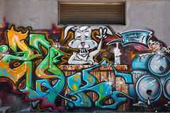 Graffiti wall Stock Image