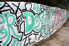 Graffiti Wall Stock Images