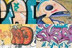 Graffiti on the wall. Royalty Free Stock Photos