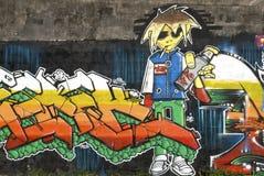 Graffiti wall. Artwork graffiti on a wall royalty free stock photos