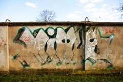Graffiti on the wall Royalty Free Stock Photography
