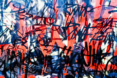 Graffiti on the wall Royalty Free Stock Images