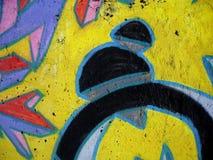 Graffiti wall. Close up Royalty Free Stock Image