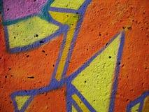 Graffiti wall. Close up Stock Images