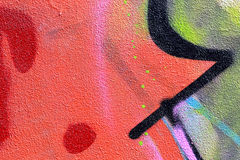 Graffiti on a wall abstract background Stock Photos