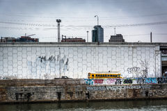 Graffiti on wall along the Schuylkill River in Philadelphia, Pen Stock Photography