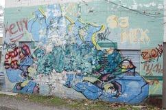 Graffiti on wall Stock Photo
