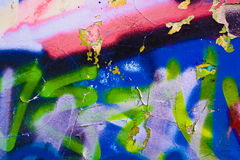 Graffiti wall as urban background Royalty Free Stock Photo