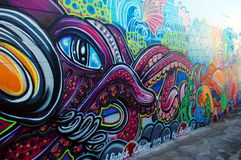 Graffiti wall in Australia Royalty Free Stock Photography