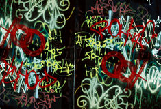 Graffiti wall background Stock Images