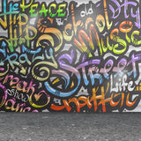 Graffiti wall background Royalty Free Stock Photography