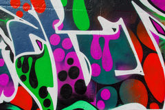Graffiti wall background / texture Royalty Free Stock Photography