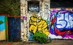 Graffiti on a wall in Baltimore, Maryland. Royalty Free Stock Photography