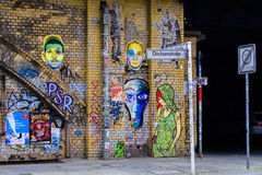 Graffiti on a wall in Berlin Stock Photo