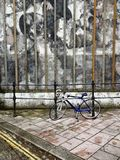 Graffiti wall with bicycle in Plymouth Stock Images
