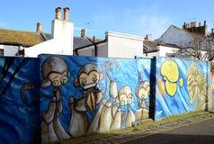 Graffiti wall in Brighton, Royalty Free Stock Photos