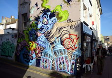 Graffiti wall in Brighton Royalty Free Stock Images