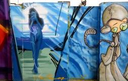 Graffiti wall in Brighton Stock Photo