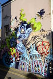 Graffiti wall in Brighton Stock Image