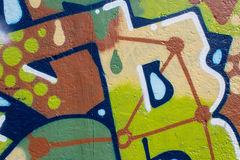 Graffiti wall closeup.graffiti artwork macro Stock Photos