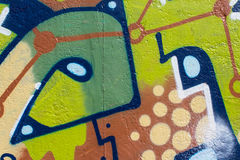 Graffiti wall closeup.graffiti artwork macro Royalty Free Stock Image