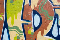 Graffiti wall closeup. graffiti painting macro Stock Image