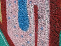 Graffiti wall. Colorful grafitti on wall 2015 Stock Photos