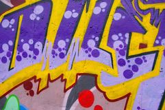 Graffiti wall. Colorful grafitti on wall 2015 Royalty Free Stock Photo