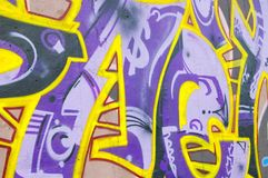 Graffiti wall. Colorful grafitti on wall 2015 Royalty Free Stock Images