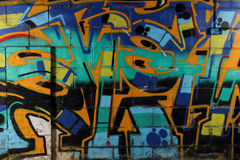 Graffiti Wall in Derelict Building Stock Photography