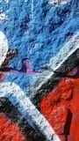 Graffiti on wall - detail. This is detail of graffiti on the wall royalty free stock photo
