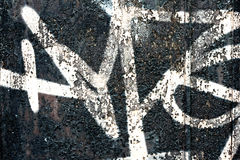 Graffiti on a wall - detail of a graffiti painted on a wall. In Belgrade stock photography