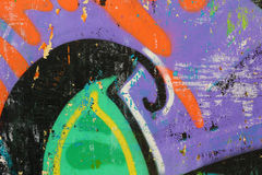 Graffiti on a wall - detail of a graffiti painted on a wall Royalty Free Stock Photos