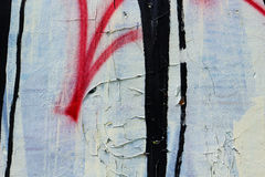 Graffiti on a wall - detail of a graffiti painted on a wall Royalty Free Stock Image