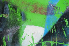 Graffiti on a wall - detail of a graffiti painted on a wall Royalty Free Stock Photography