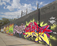Graffiti wall at East Williamsburg neighborhood in Brooklyn, New York Stock Photography