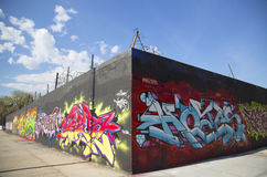 Graffiti wall at East Williamsburg neighborhood in Brooklyn, New York Royalty Free Stock Photos