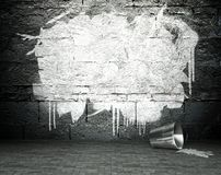 Graffiti wall with frame, street background Royalty Free Stock Photos