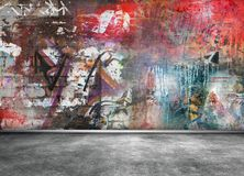 Graffiti wall. Grunge colorful background Royalty Free Stock Image