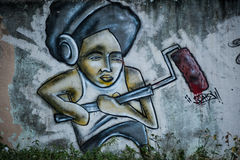 Graffiti. On a wall in Havana, Cuba Royalty Free Stock Image