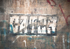 Graffiti on the wall inside an underpass tunnel. England; UK Royalty Free Stock Photos